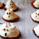 Meringue Ghosts & Chocolate Covered Pretzels
