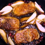 Pork with Cranberries and Pear Recipe