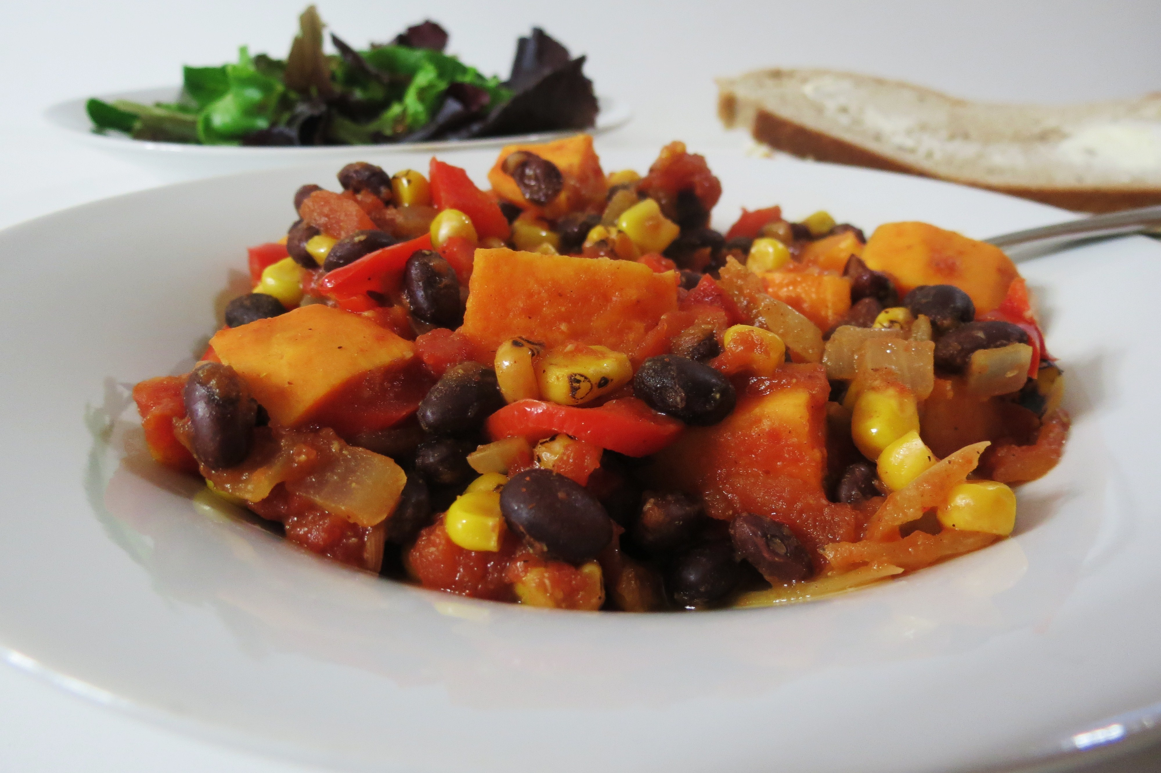 Sweet Potato Black Bean Chili | Peanut Butter and Peppers
