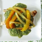 Open Face Chicken Pesto Sandwich