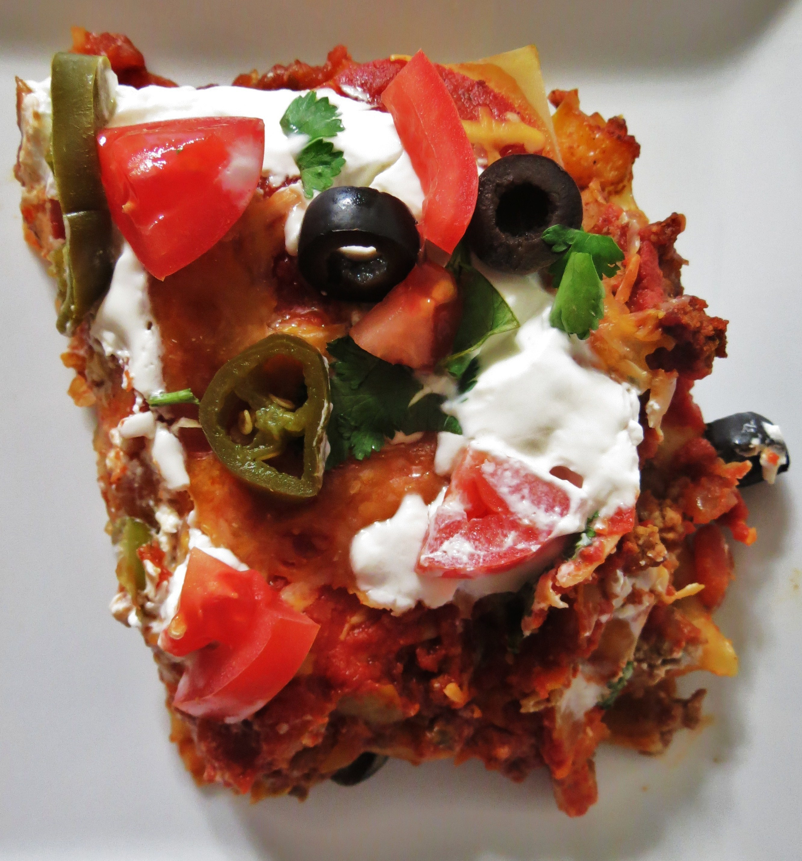 Taco Lasagna | Peanut Butter and Peppers