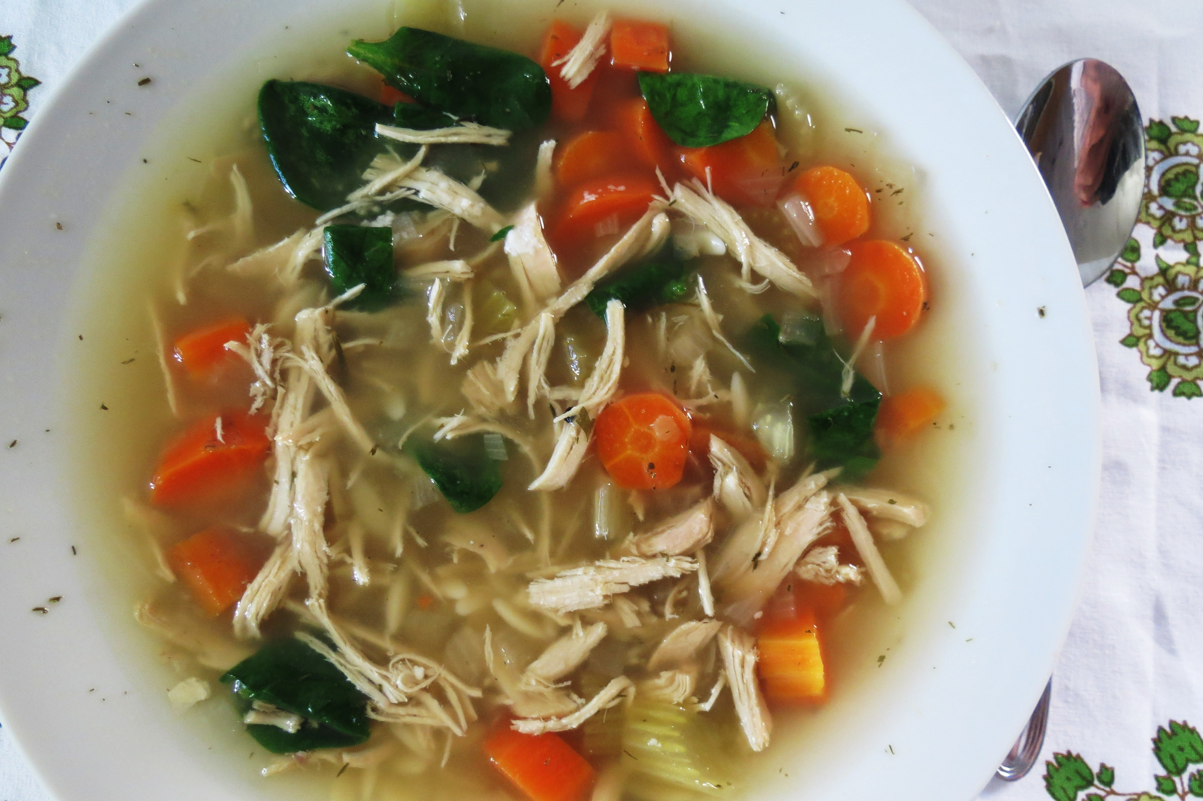 Chicken Lemon Soup with Orzo Pasta - Crockpot