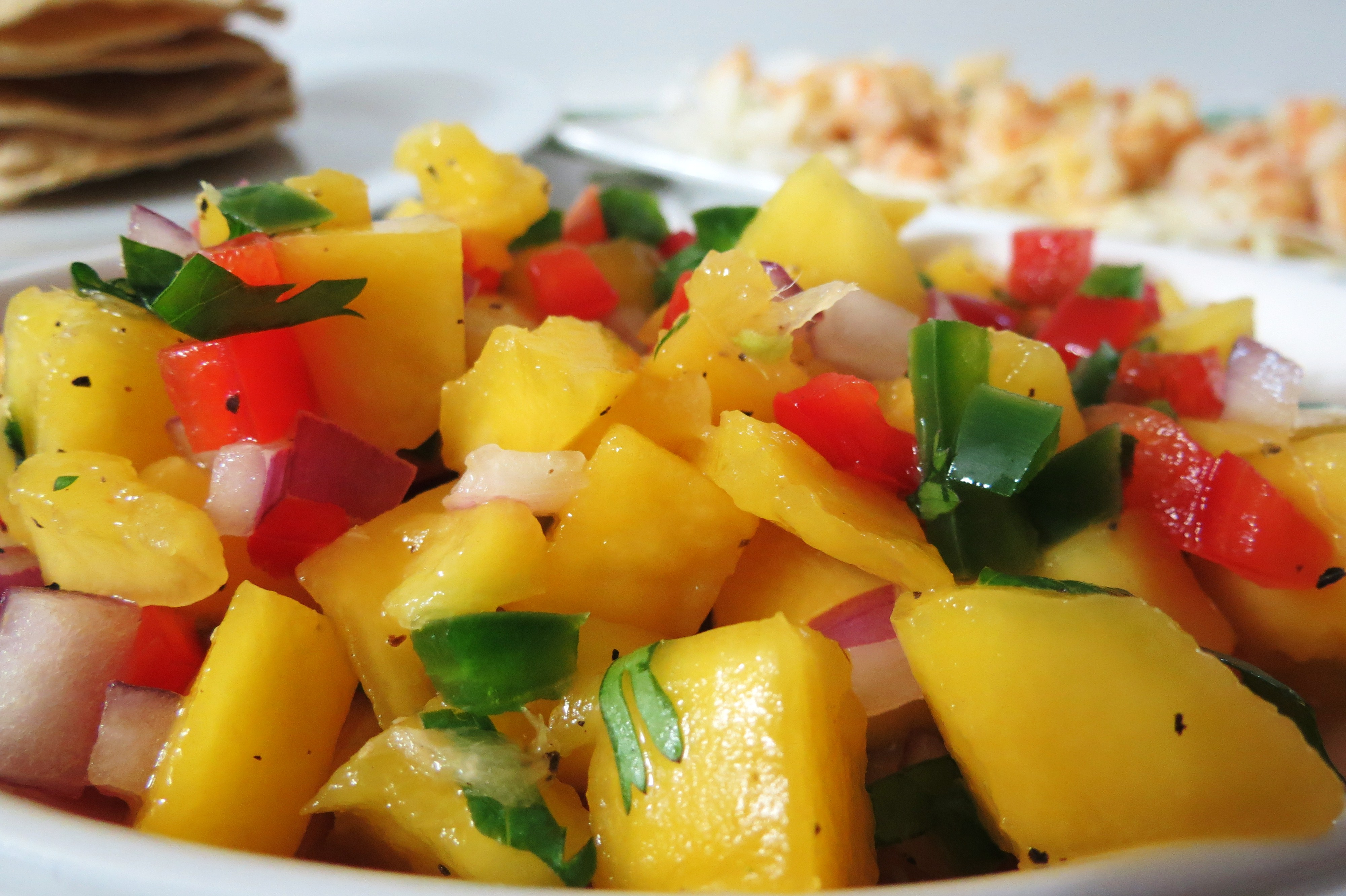 Grilled Lime And Chile Chicken With Mango And Red Bell ...