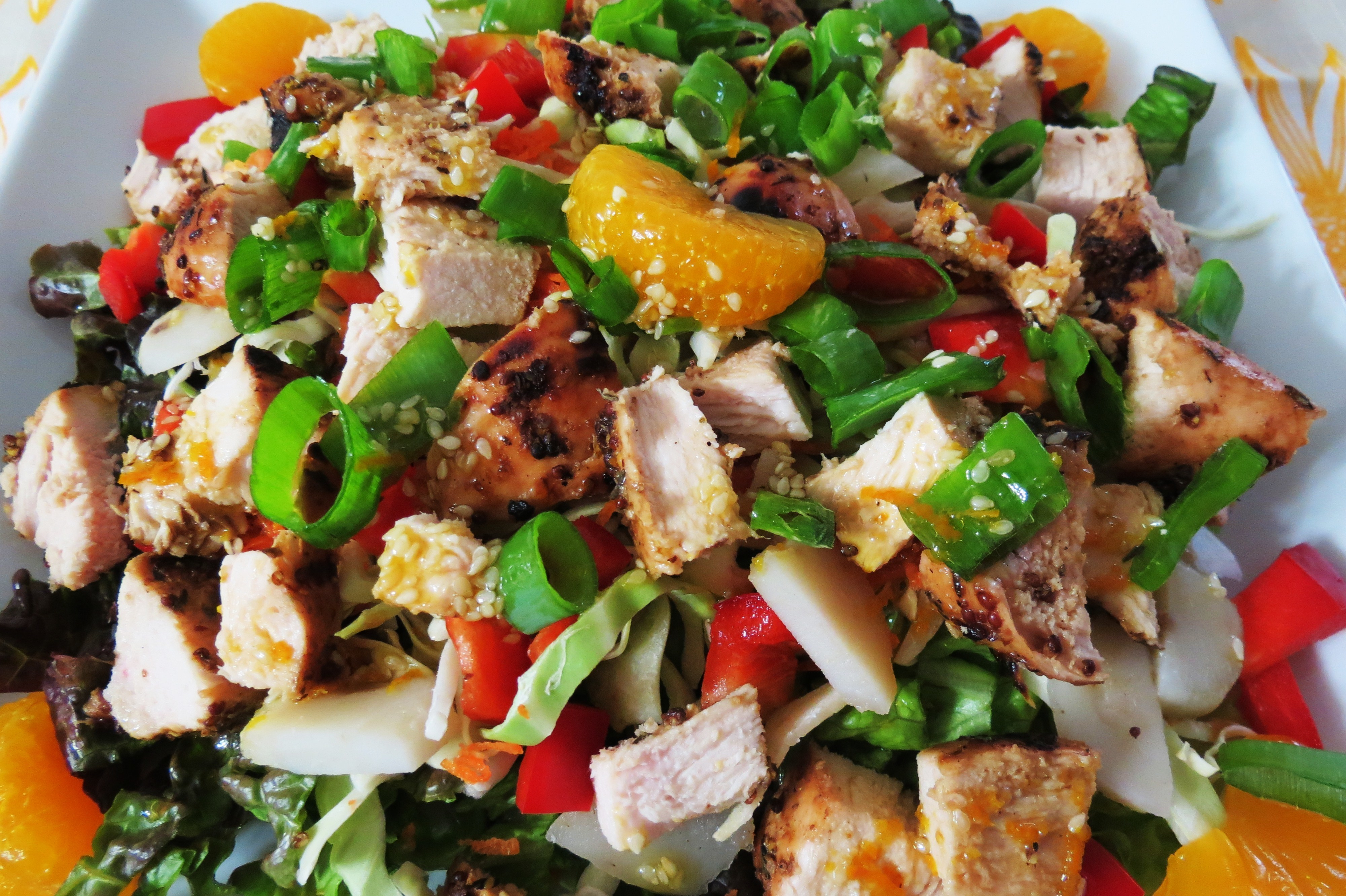 Chicken And Vegetable Salad With Chinese Sesame Sauce Recipes ...