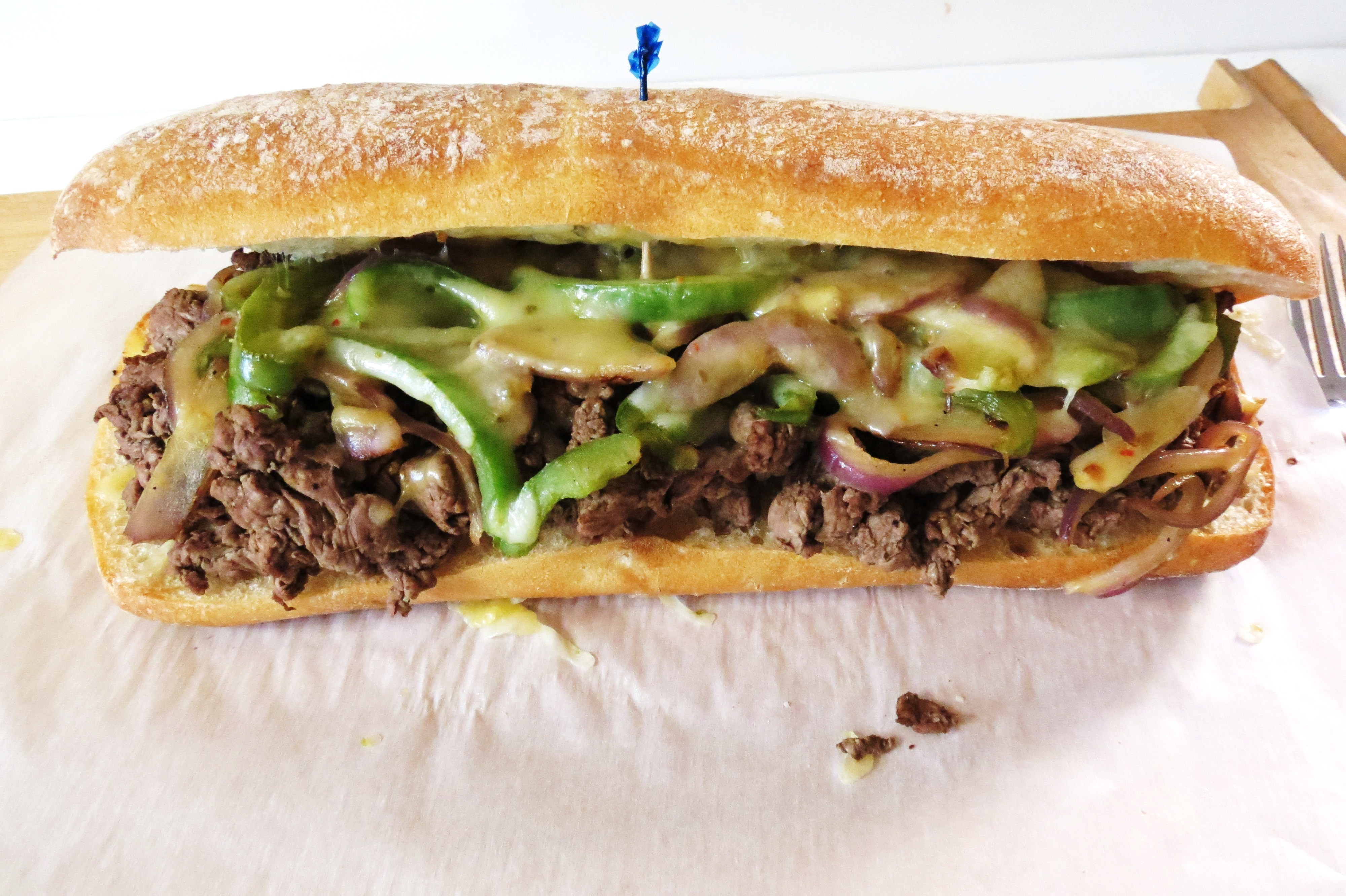 Philly Cheese Steak Man Sandwich