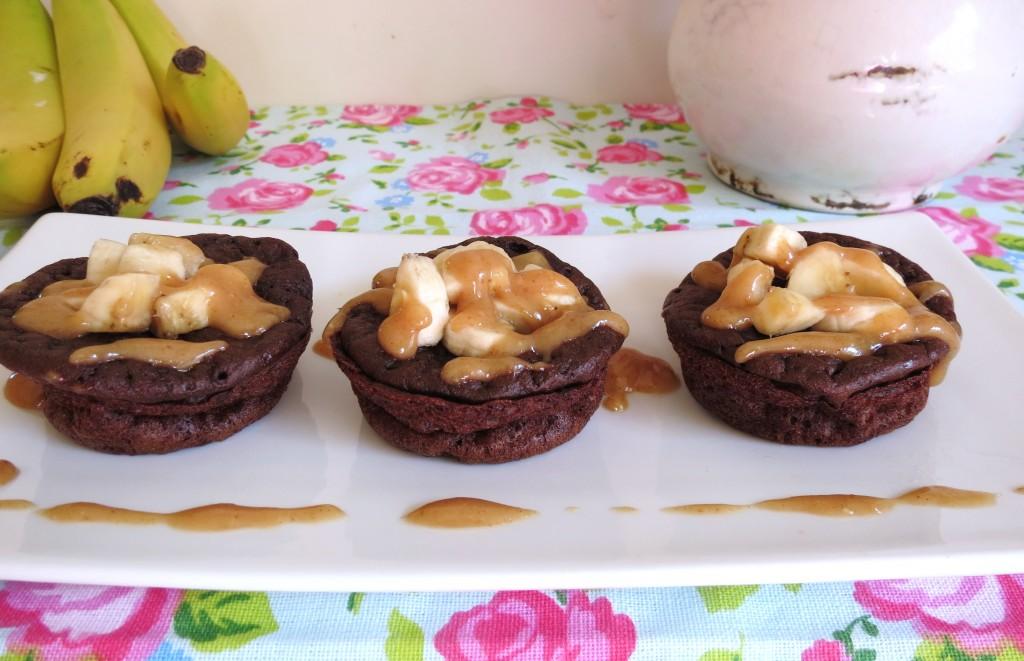 Chocolate Peanut Butter Banana Pancake Popovers