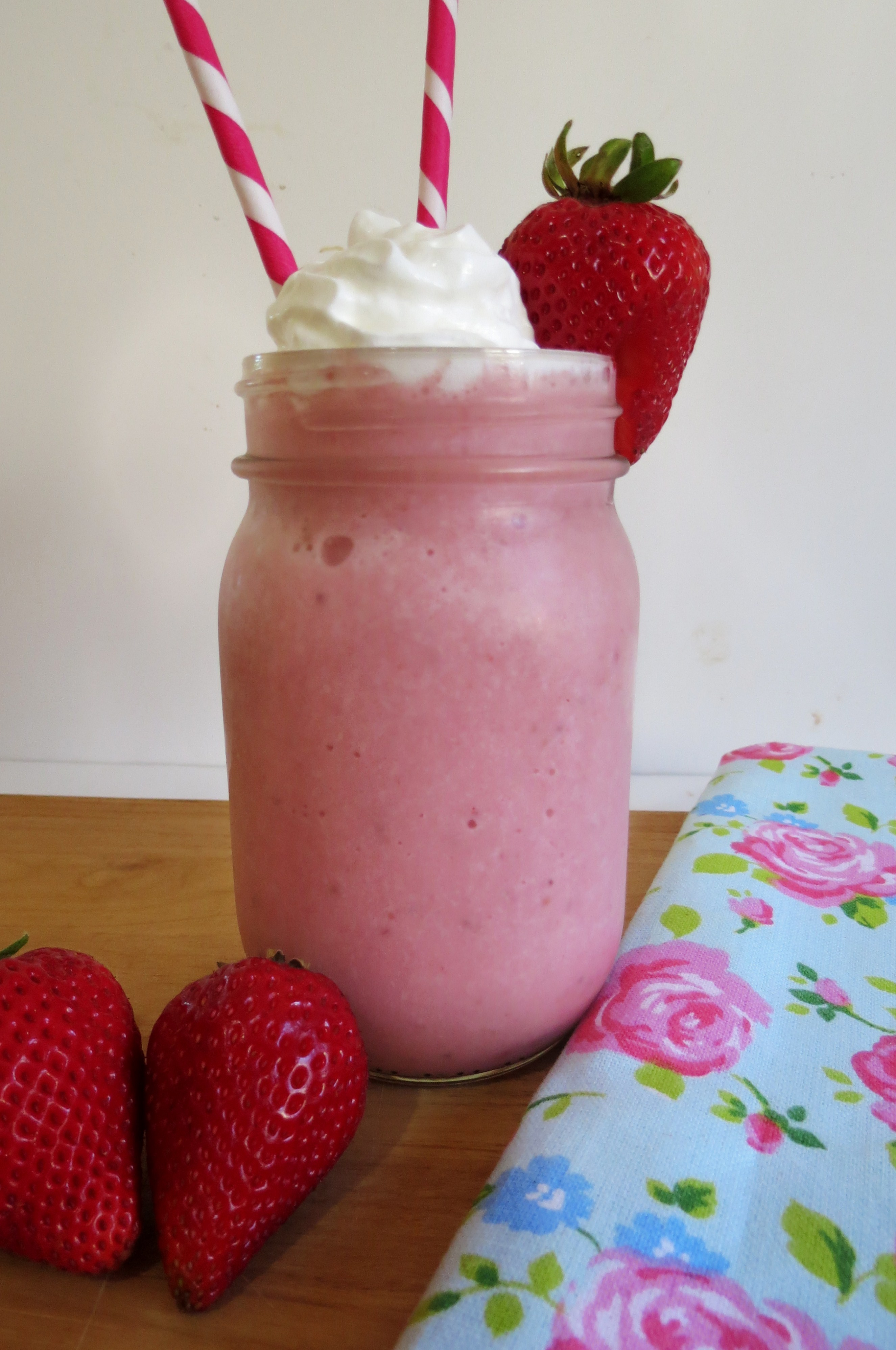 Strawberries and Cream Frappe