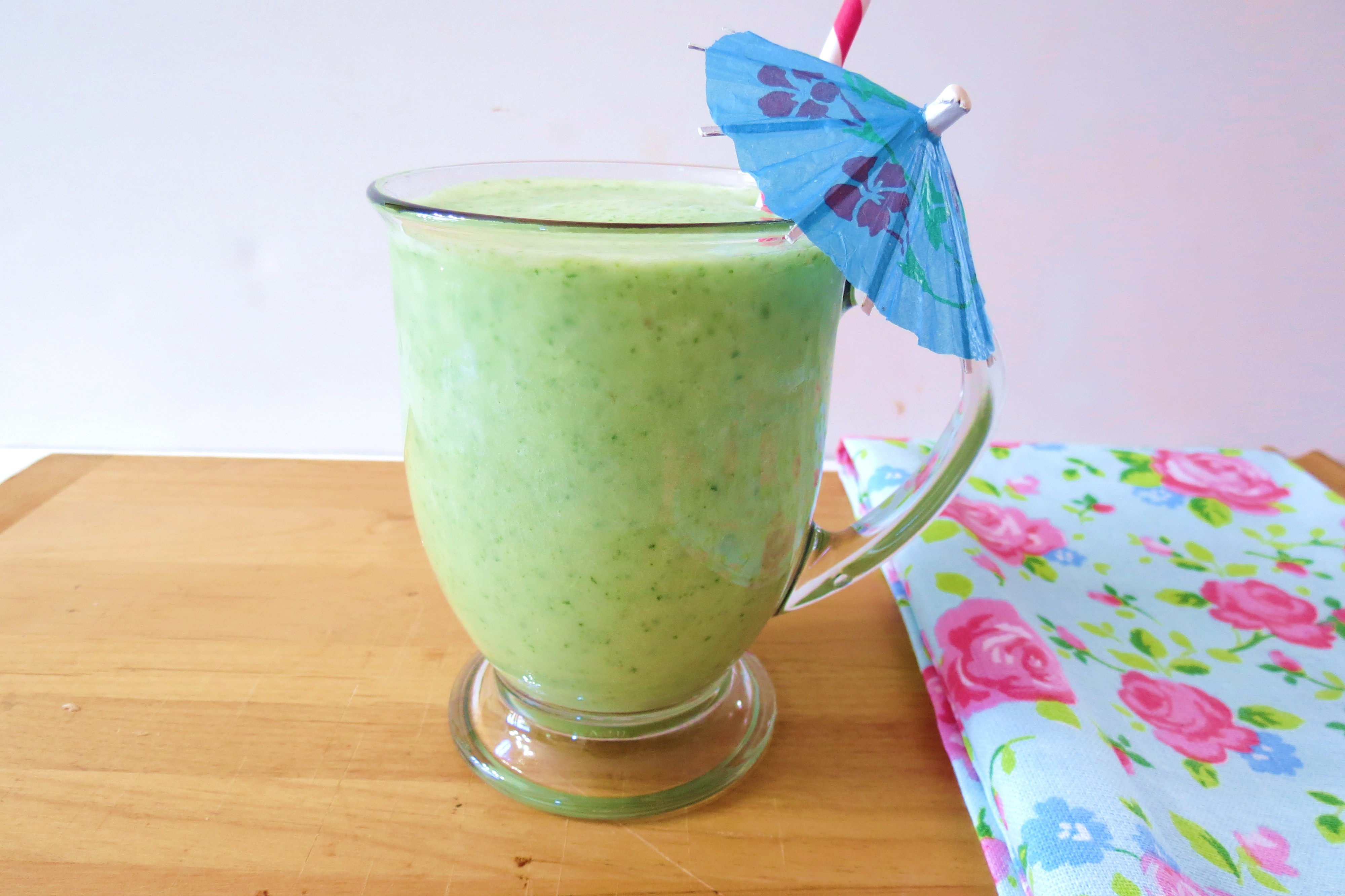 Pina Colada Green Monster | Peanut Butter and Peppers