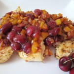 Pan Seared Chicken with Cherry Salsa