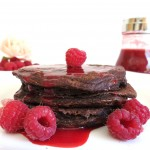 Chocolate Espresso Raspberry Pancakes