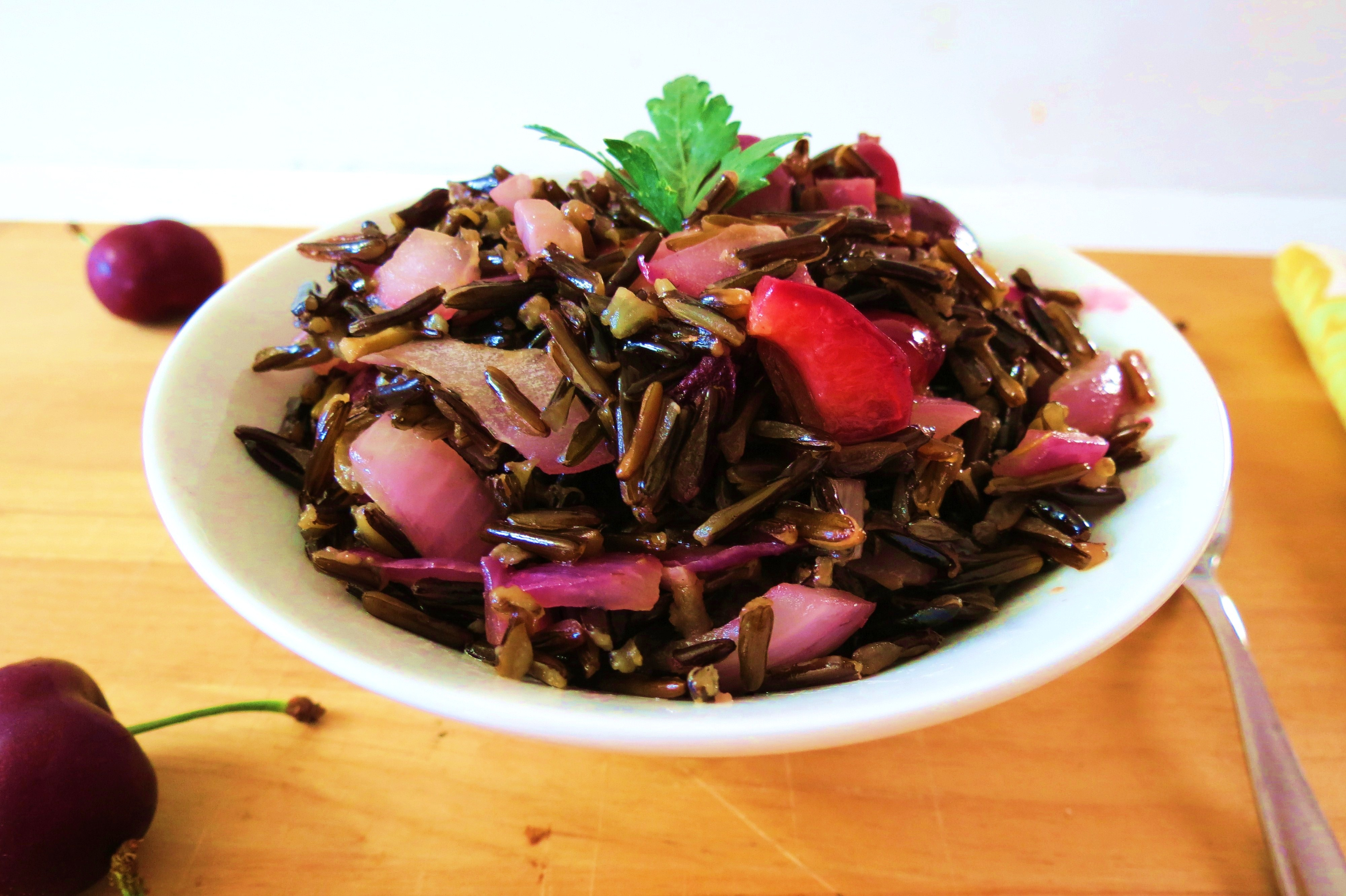 Wild Rice with Caramalized Onions & Cherries