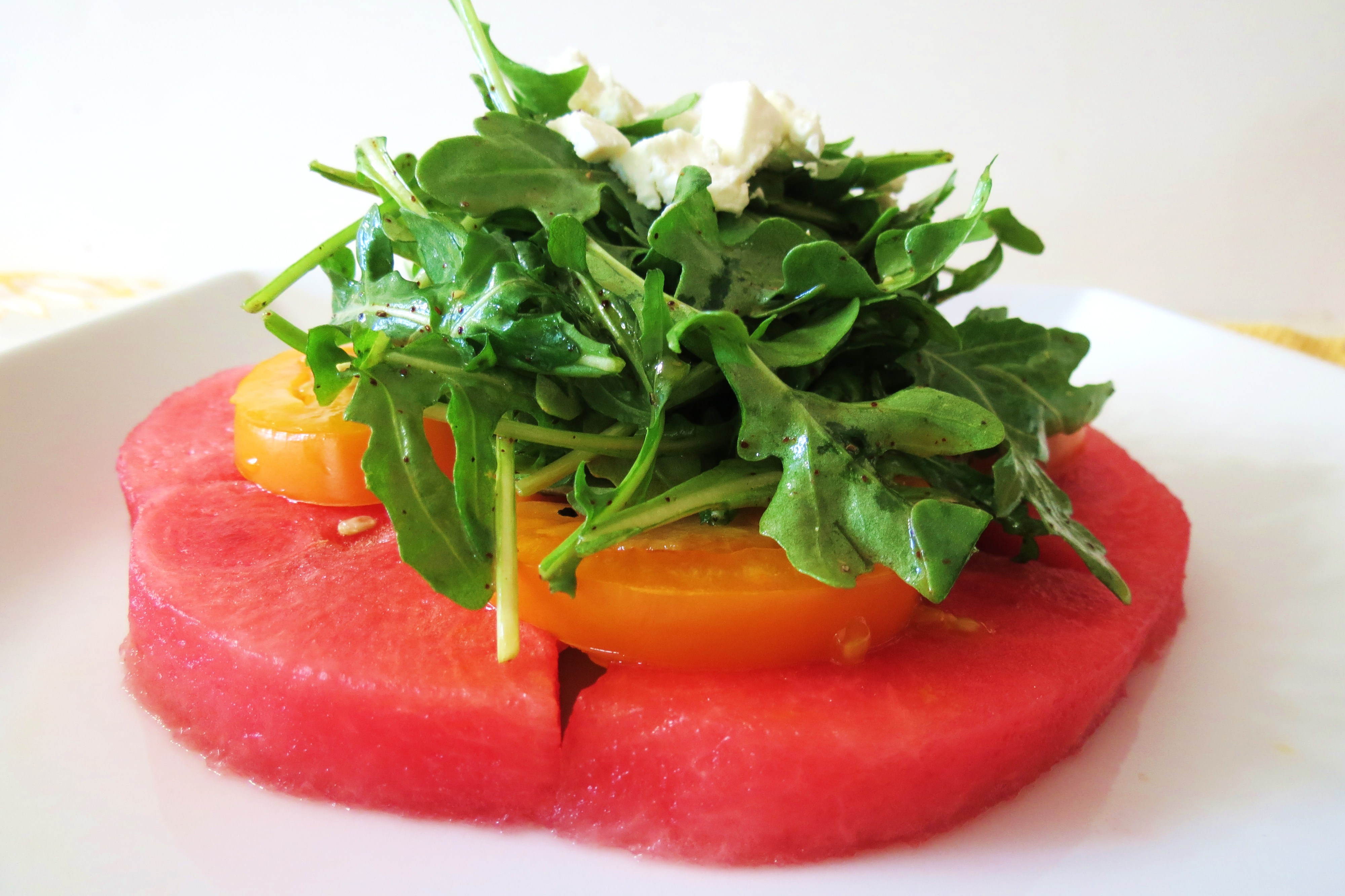 Watermelon Salad with Champagne Vinaigrette