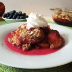 peach and blueberry crisp 049
