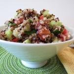 Cucumber and Tomato Quinoa Salad