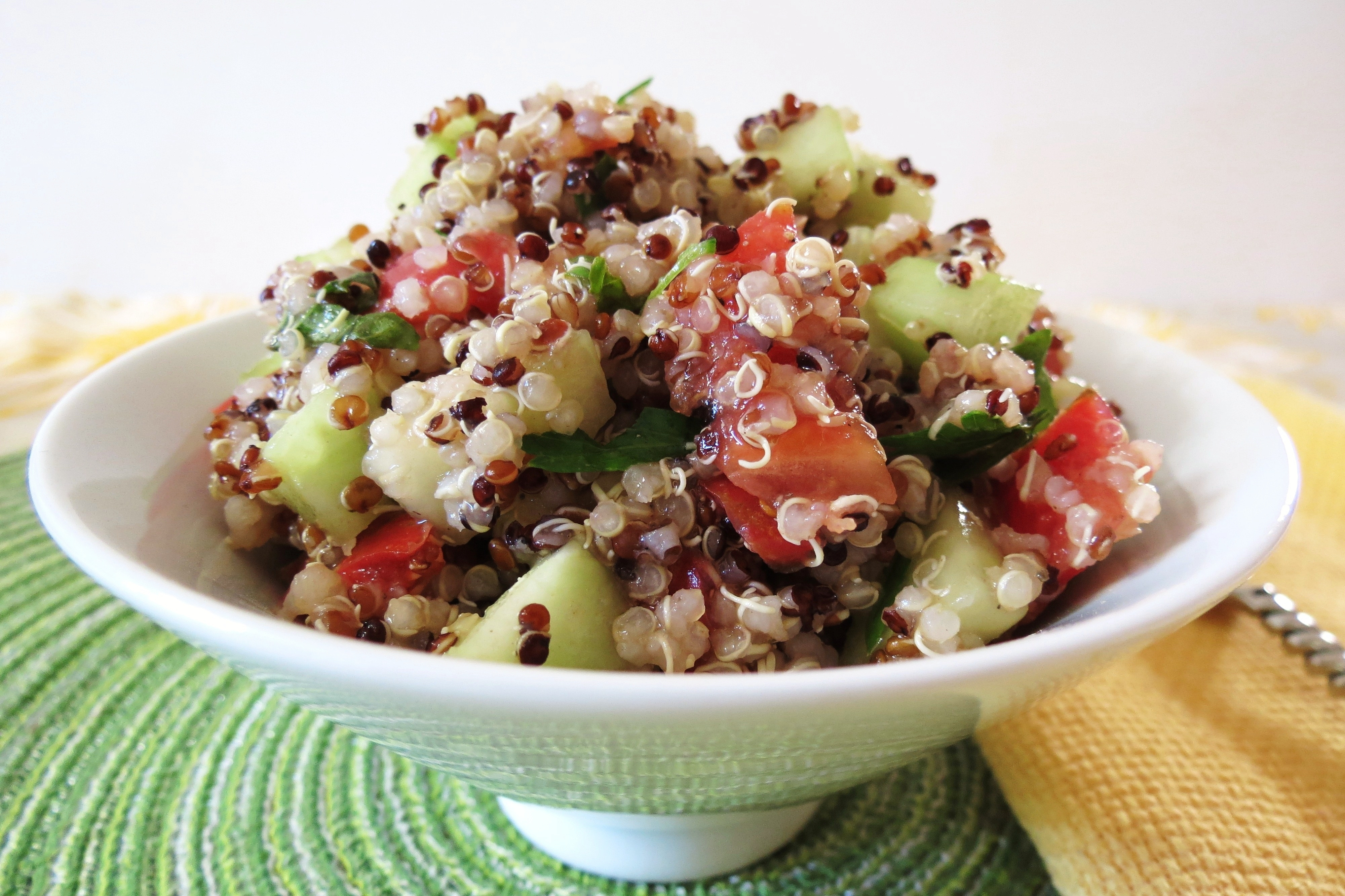 Quinoa And Cucumber Salad Recipe — Dishmaps