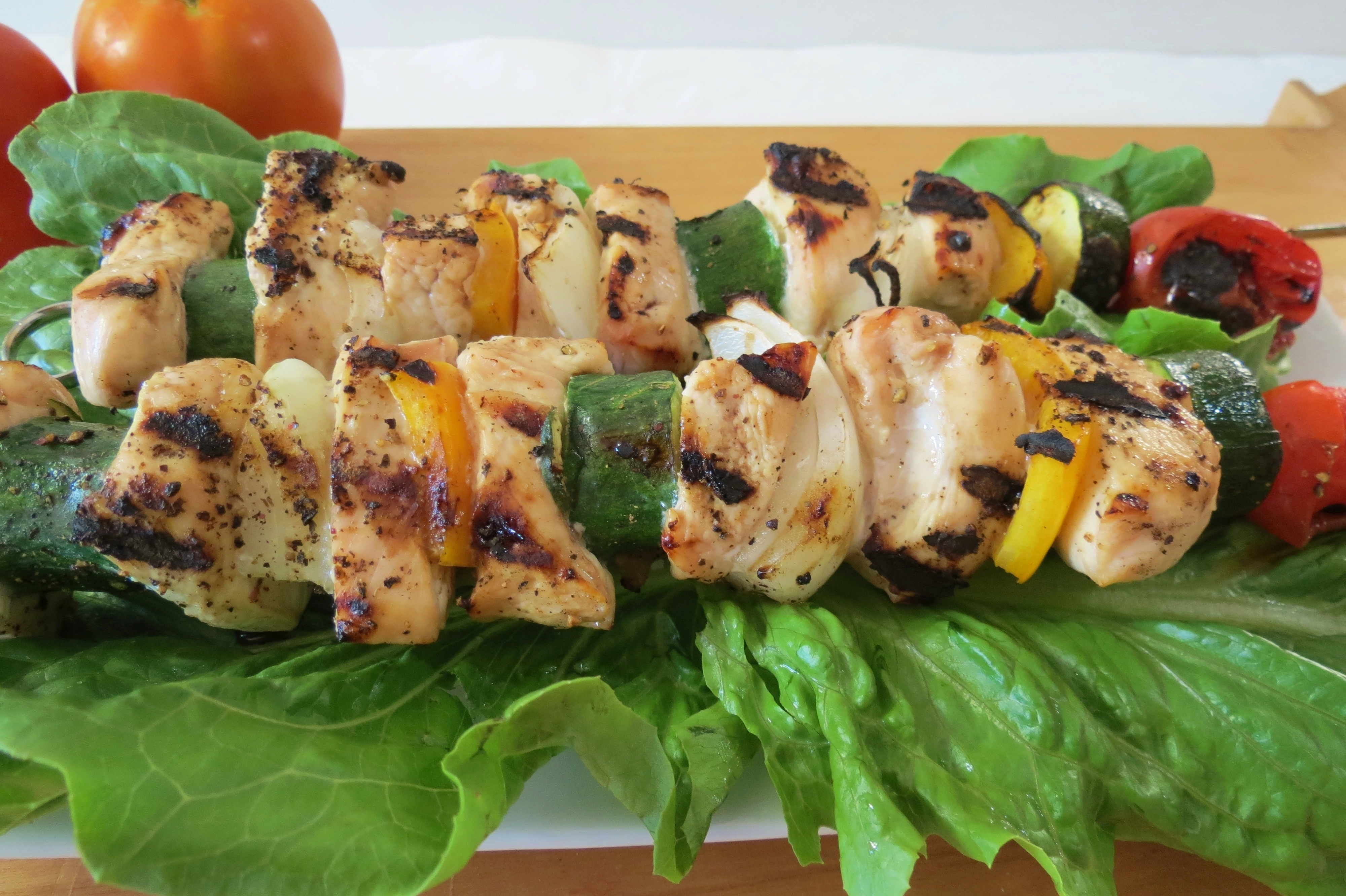 Chicken and Vegetable Shish Kabobs