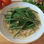 Grilled Haricot Very French Green Beans with Slivered Almonds