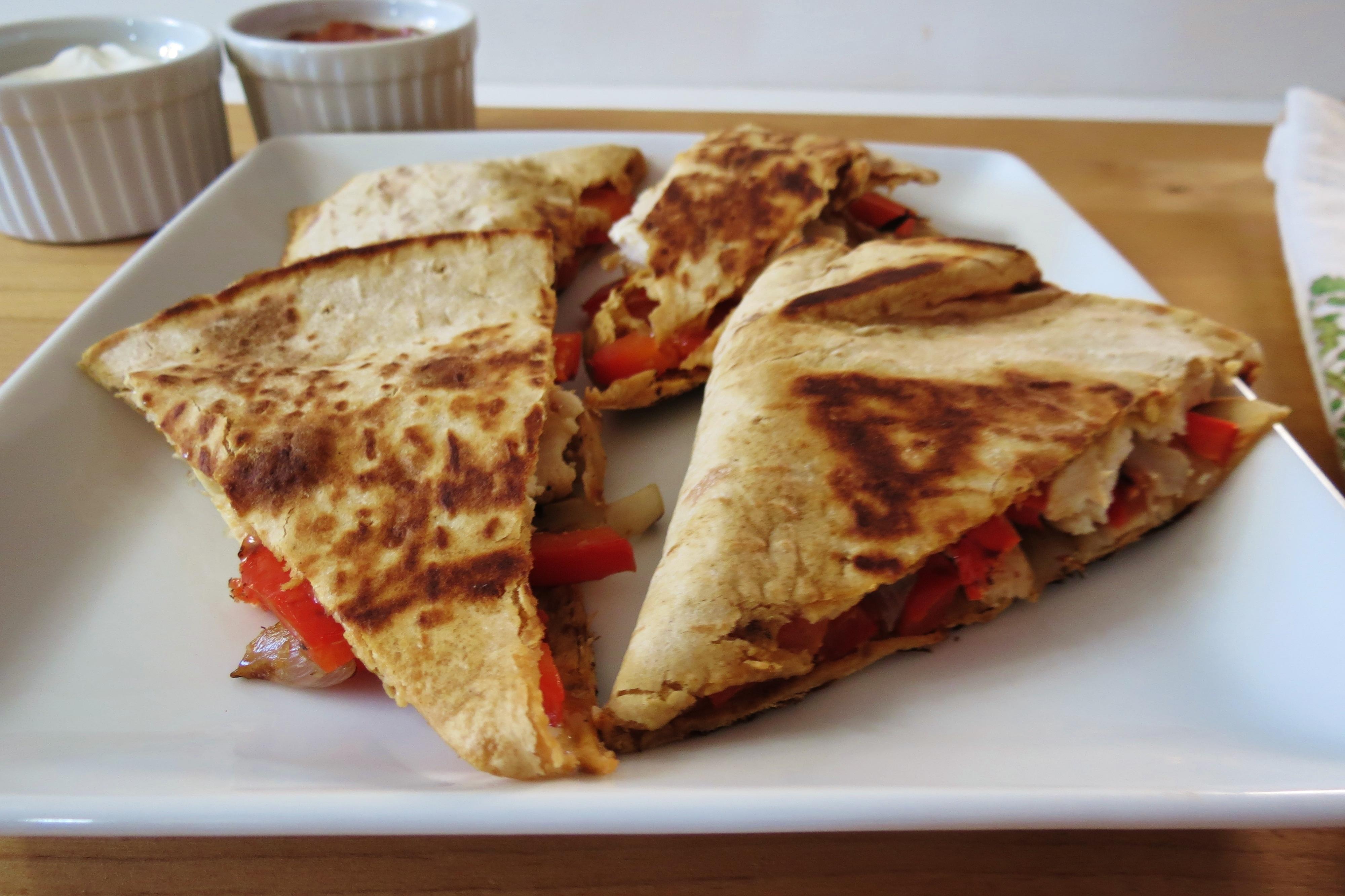 Chicken Fajita Quesadilla | Peanut Butter and Peppers