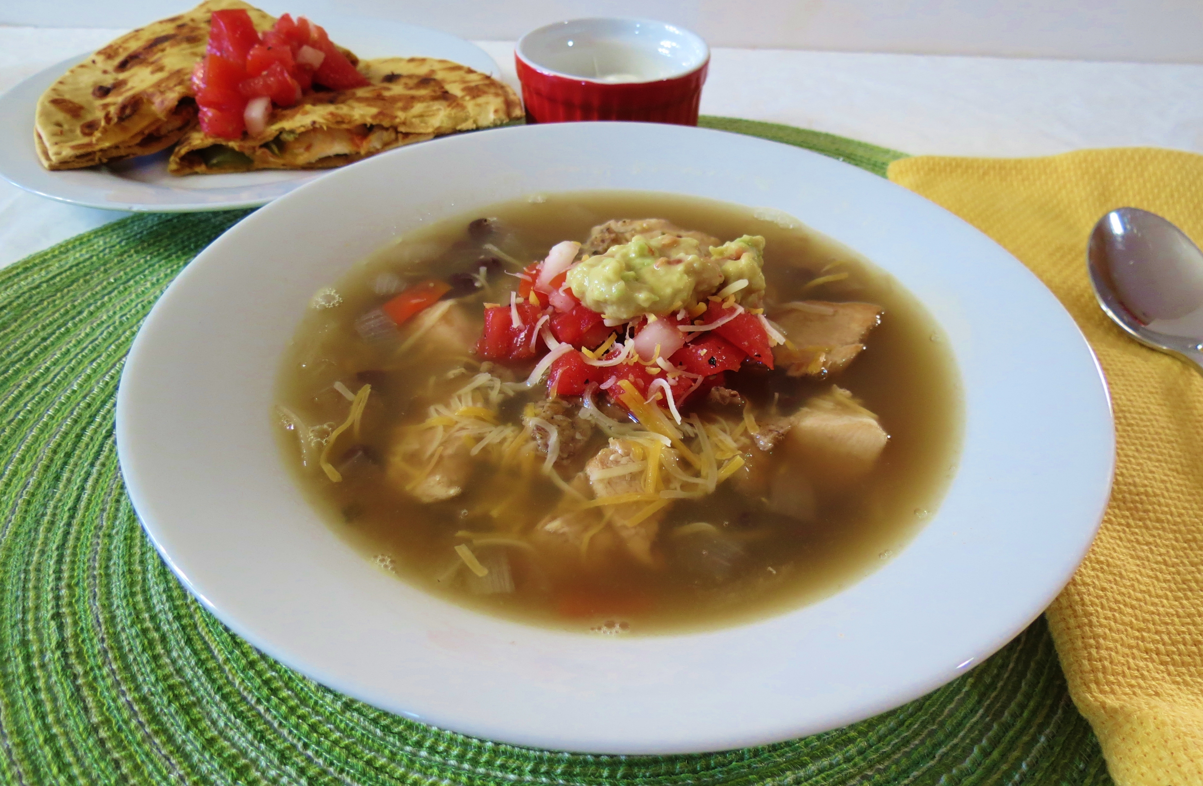 Southwest Chicken and Bean Soup