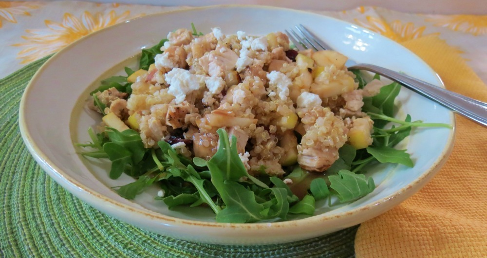 Apple and Cranberry Quinoa Salad