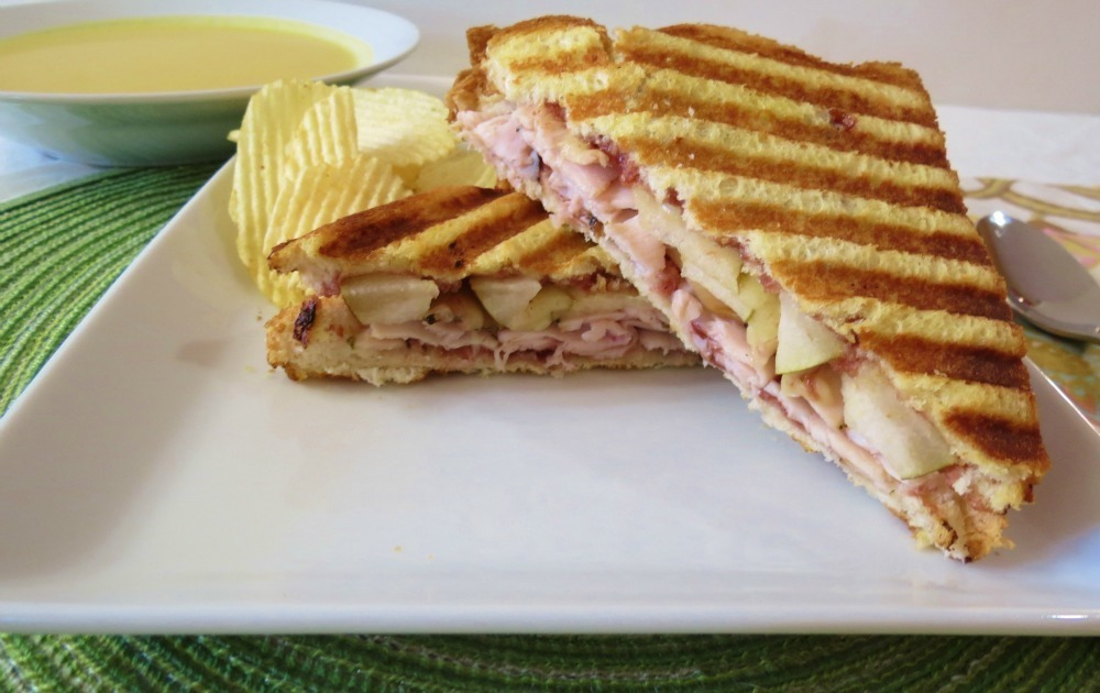 Turkey, Cranberry and Pear Panini
