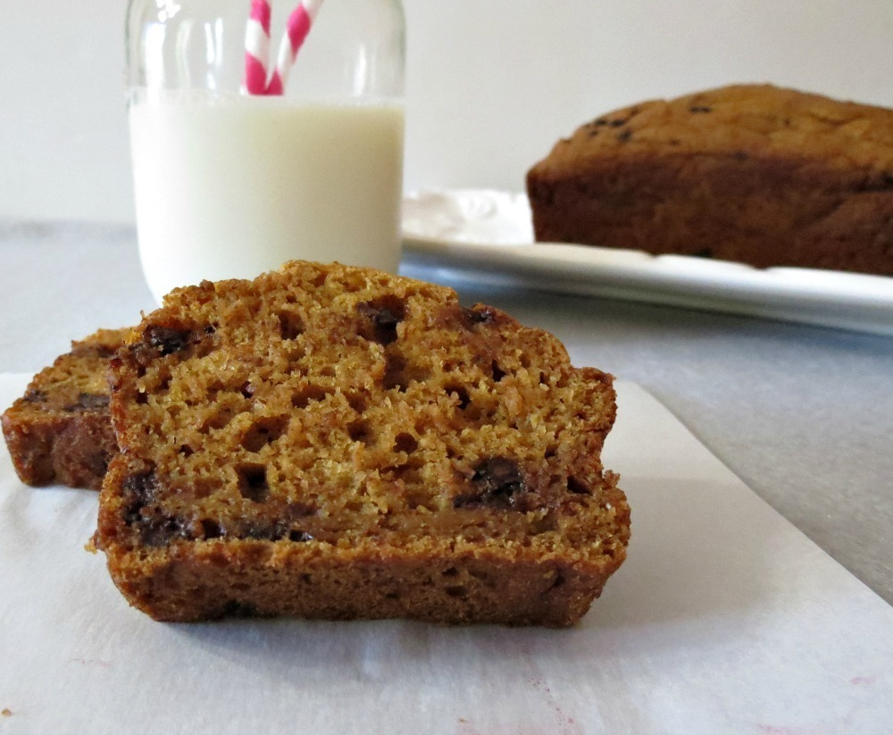 Pumpkin Bread with Chocolate Chips | Peanut Butter and Peppers