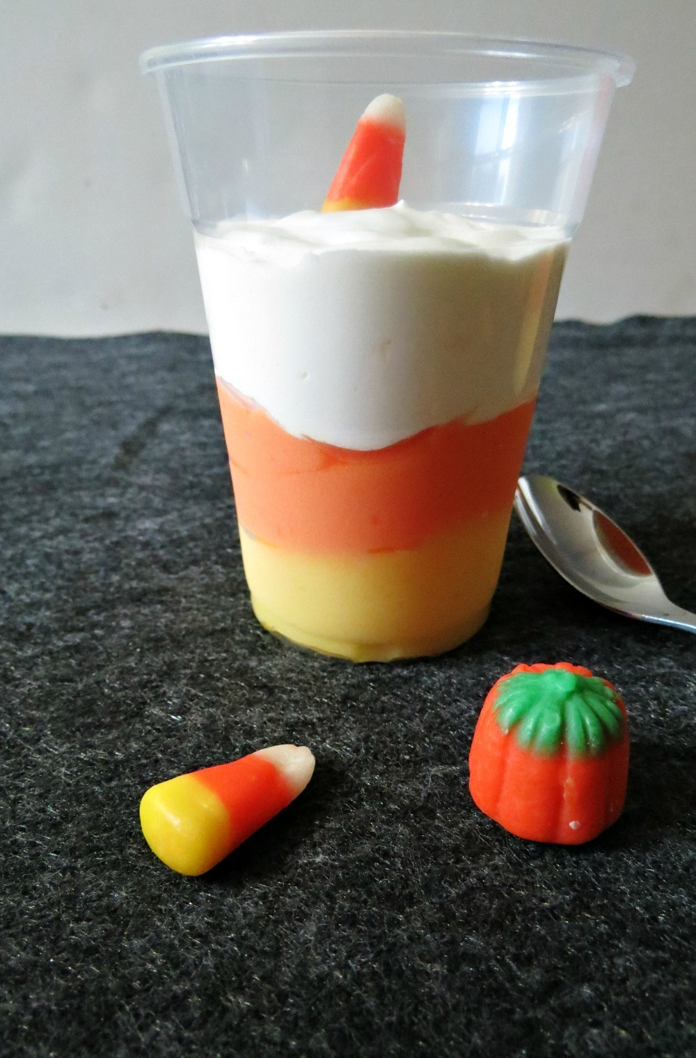 Candy Corn Pudding Cups