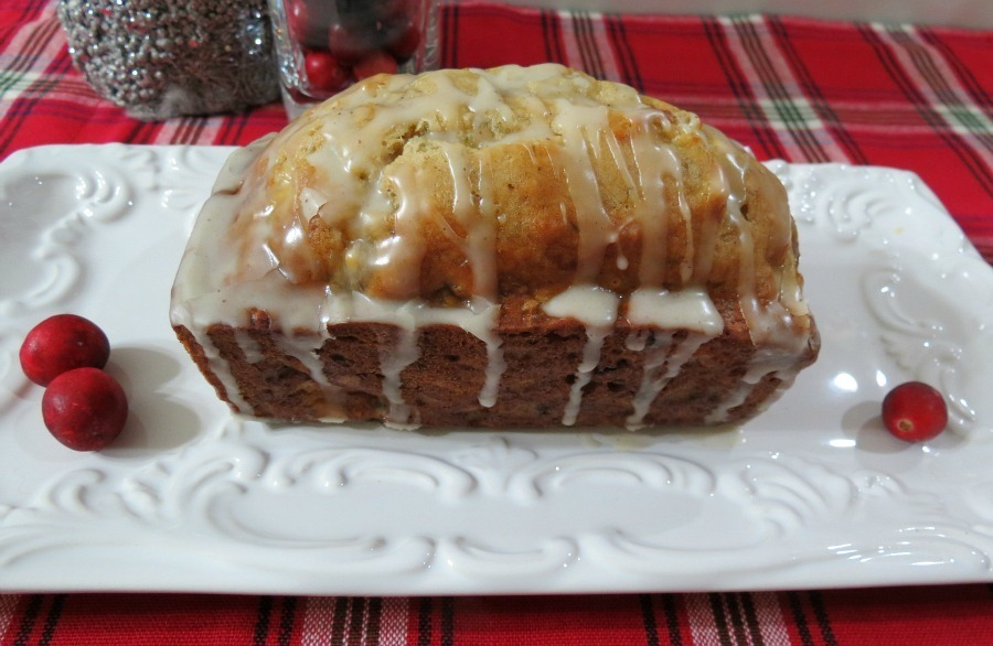 Eggnog Banana Bread with Boozy Rum Glaze