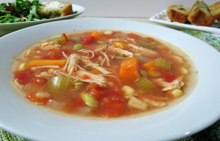 Chicken Vegetable Soup - Crockpot