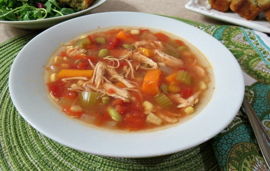 Easy vegetable soup recipe chicken broth