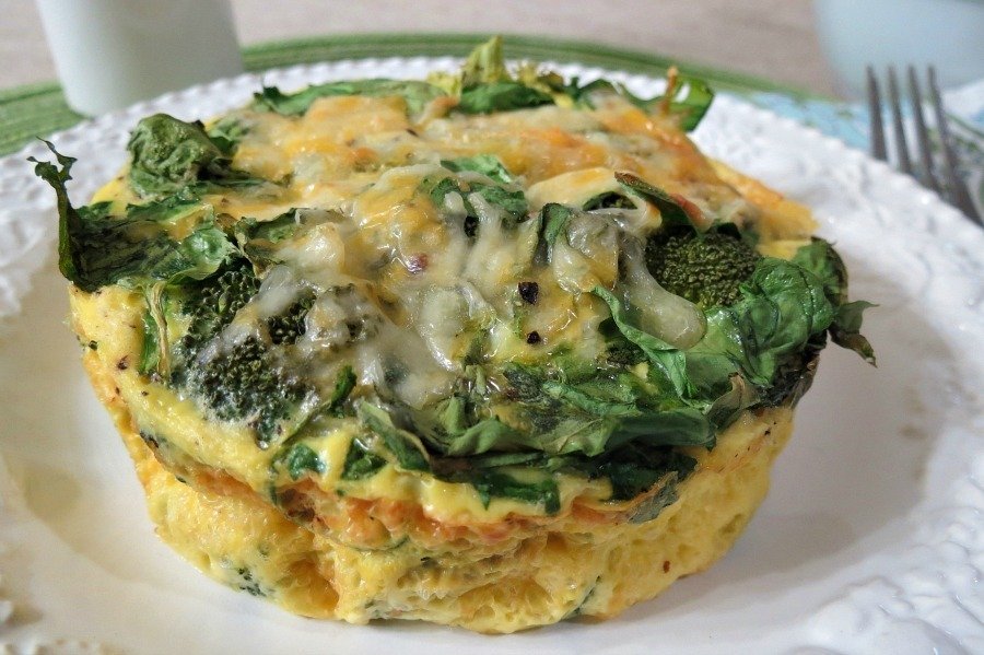 Broccoli and Cheese Egg Bake