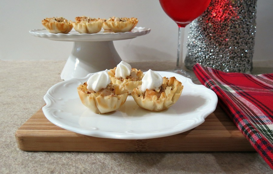 pear cream cheese fillo cups