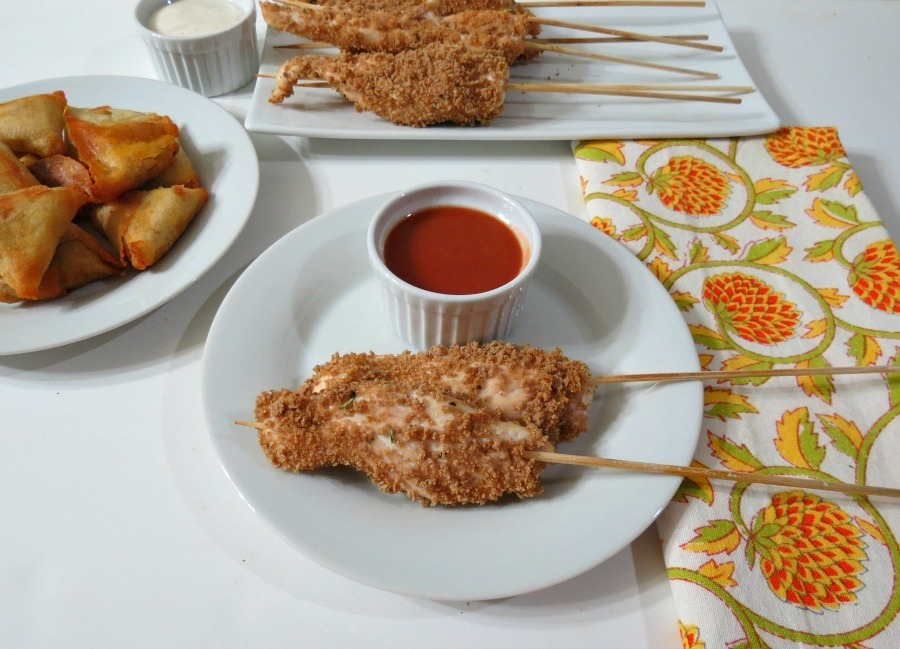 Breaded Chicken on a Stick | Peanut Butter and Peppers