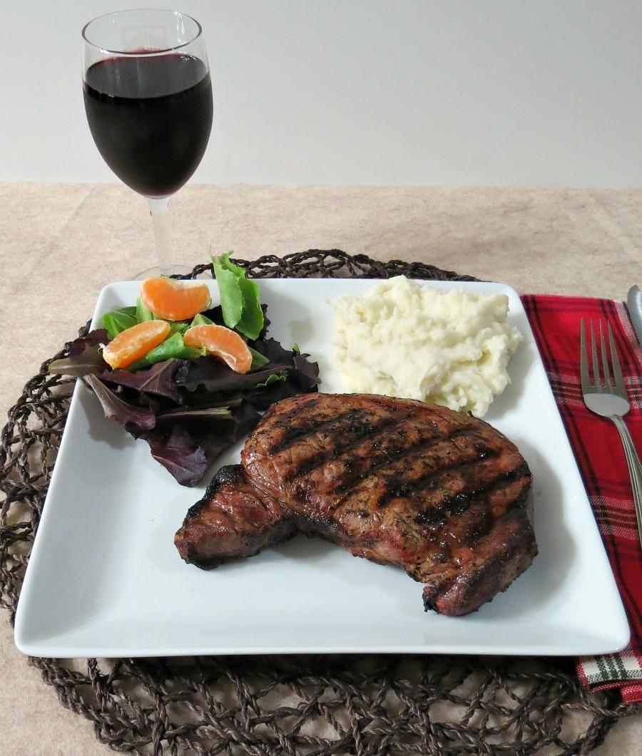 Orange, Soy and Red WIne Marinated Ribeye Steak
