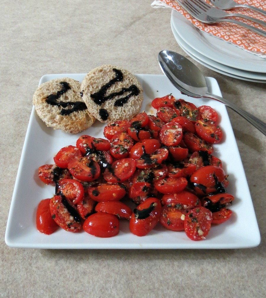Oven Roasted Tomatoes with Balsamic Glaze / Weekly Recap | Peanut ...