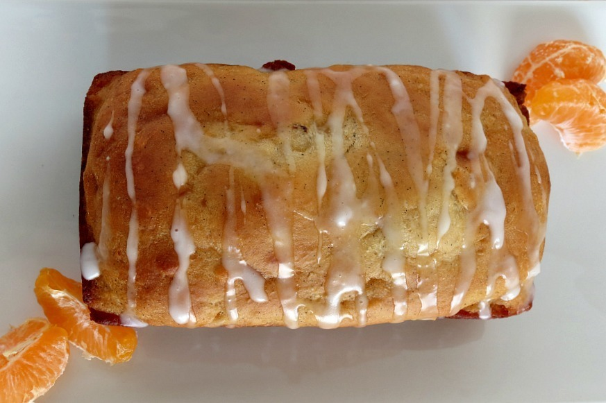 Vanilla Bean Orange Loaf Bread with Orange Glaze 018a