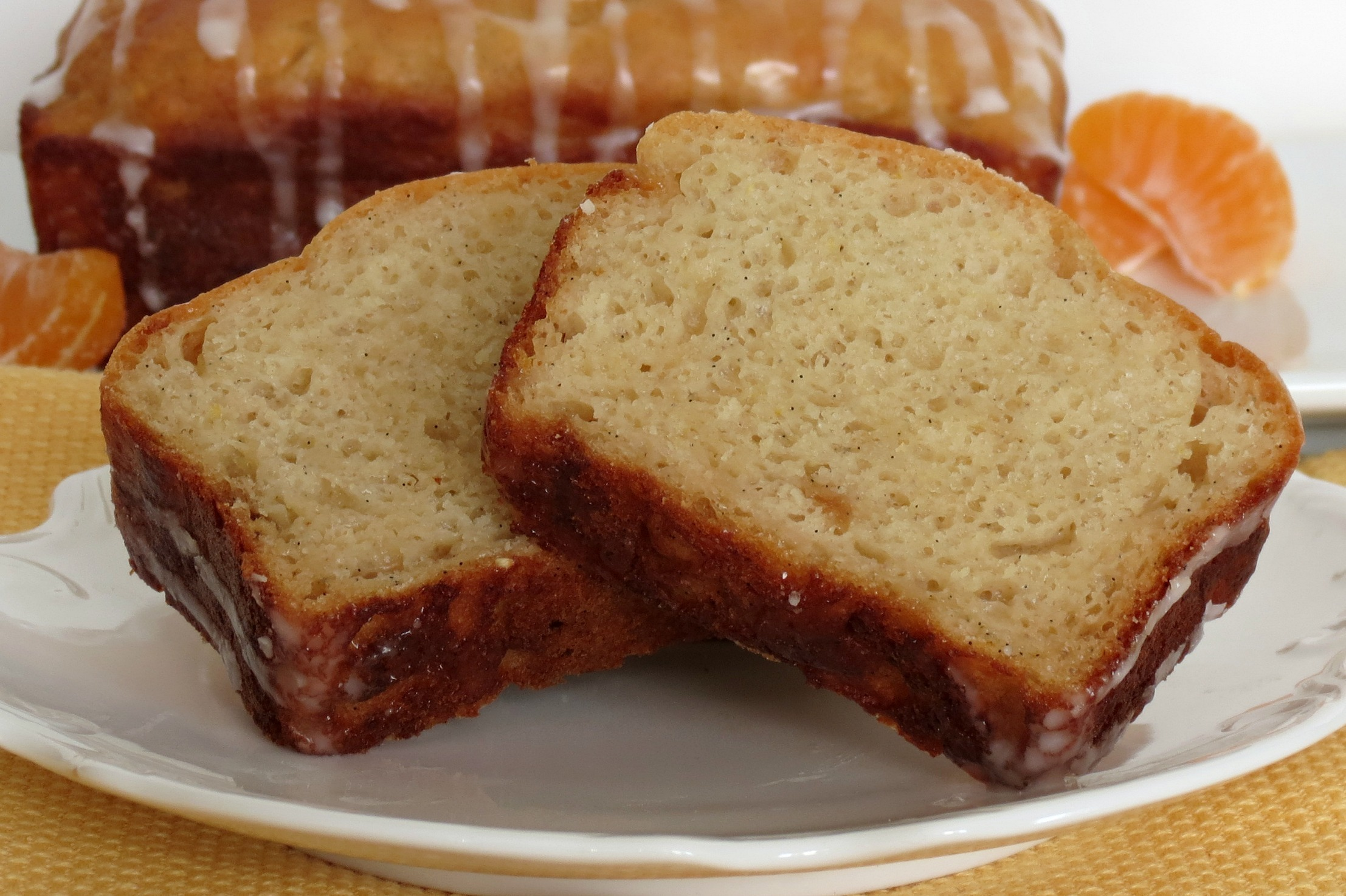 Vanilla Bean Orange Loaf Bread