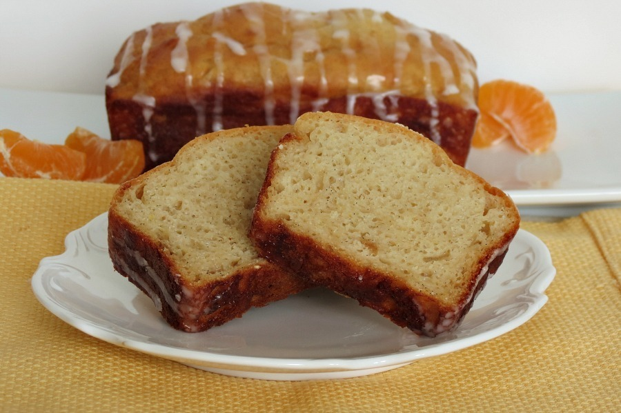 Vanilla Bean Orange Loaf Bread with Orange Glaze