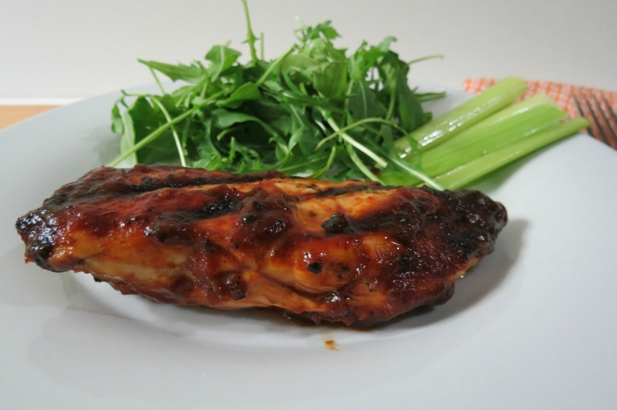 Grilled Chicken Breast with Sweet &amp; Spicy Wing Sauce