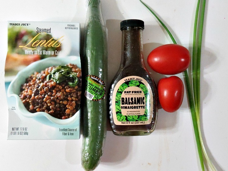 Cucumber and Tomato Lentil Salad Ingredients