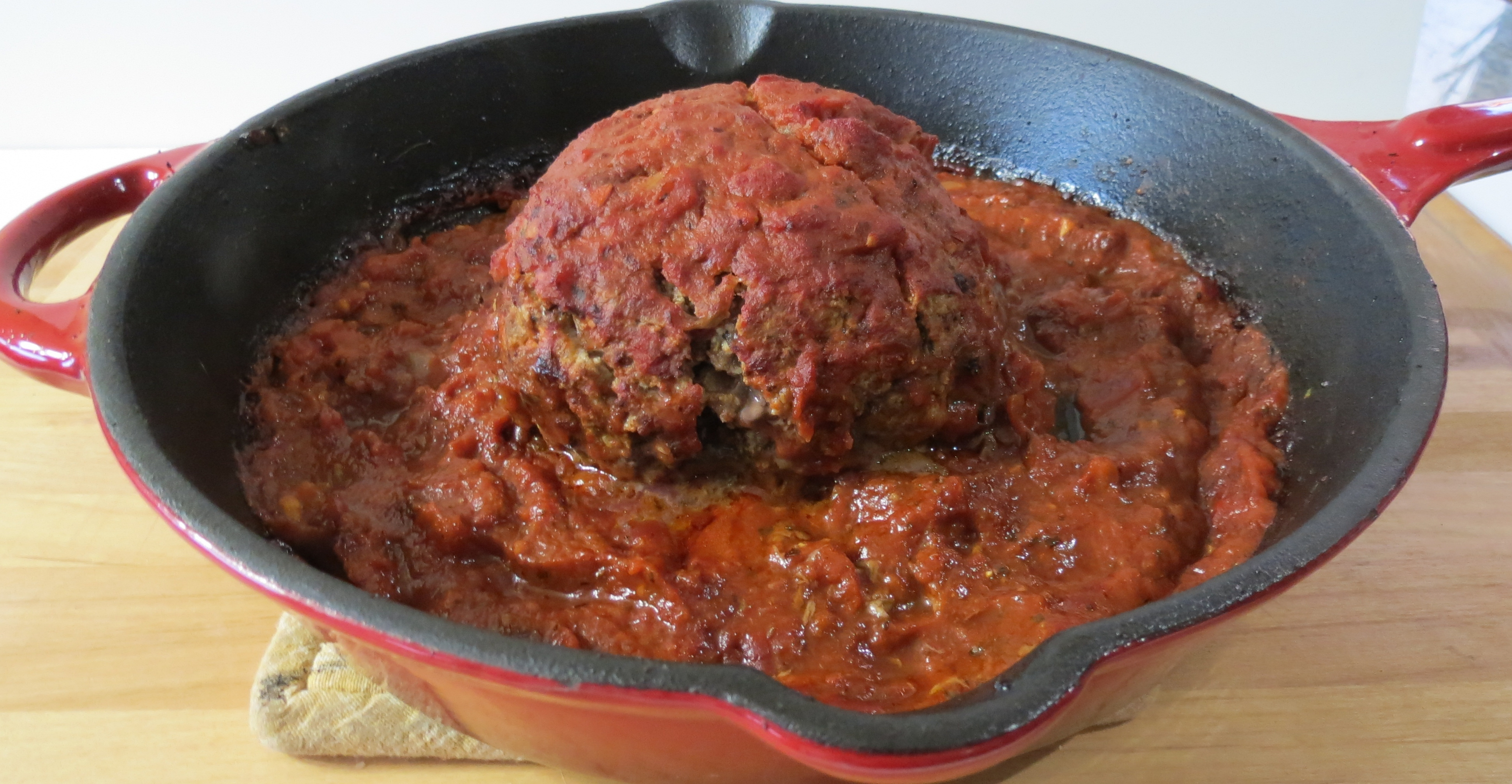 Giant Ricotta Cheese Beef Meatball