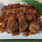 Pork Tenderloin with Caramelized Onions and Fennel