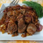 Pork Tenderloin with Caramalized Onions and Fennel