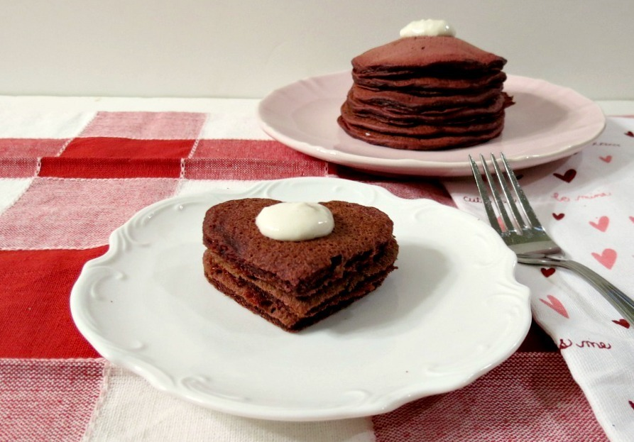 Red Velvet Pancakes - #SundaySupper | Peanut Butter and Peppers