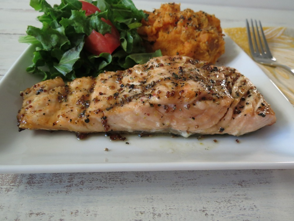 Maple Glazed Grilled Salmon