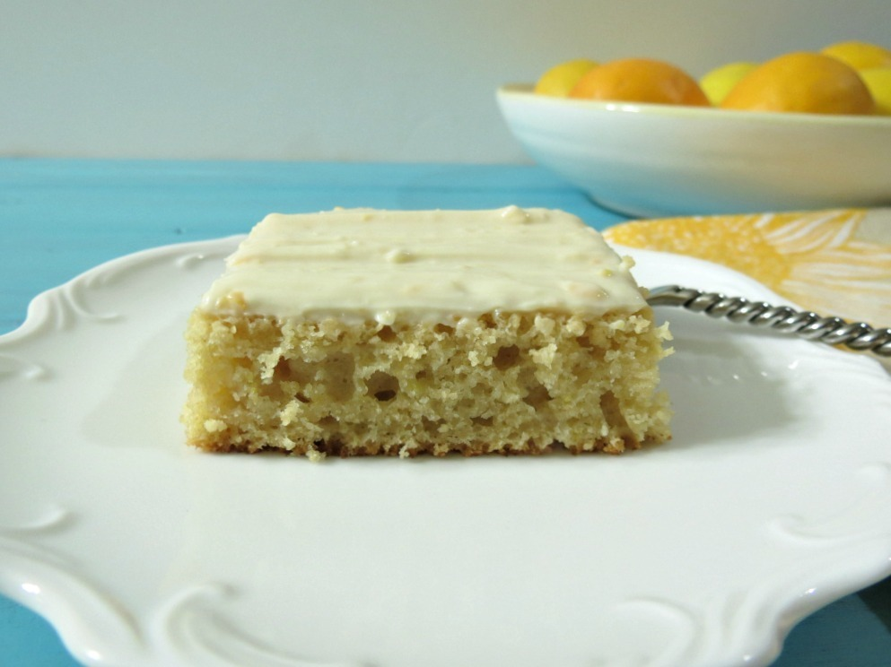 Meyer Lemon Snack Cake with Lemon Cream Cheese Frosting # ...