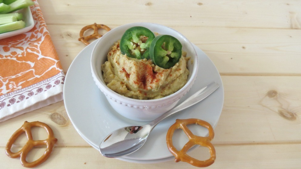 Jalapeno and Artichoke Hummus