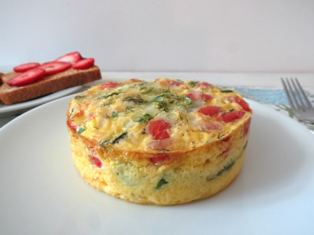 Asparagus,Tomato and Dill Egg Bake