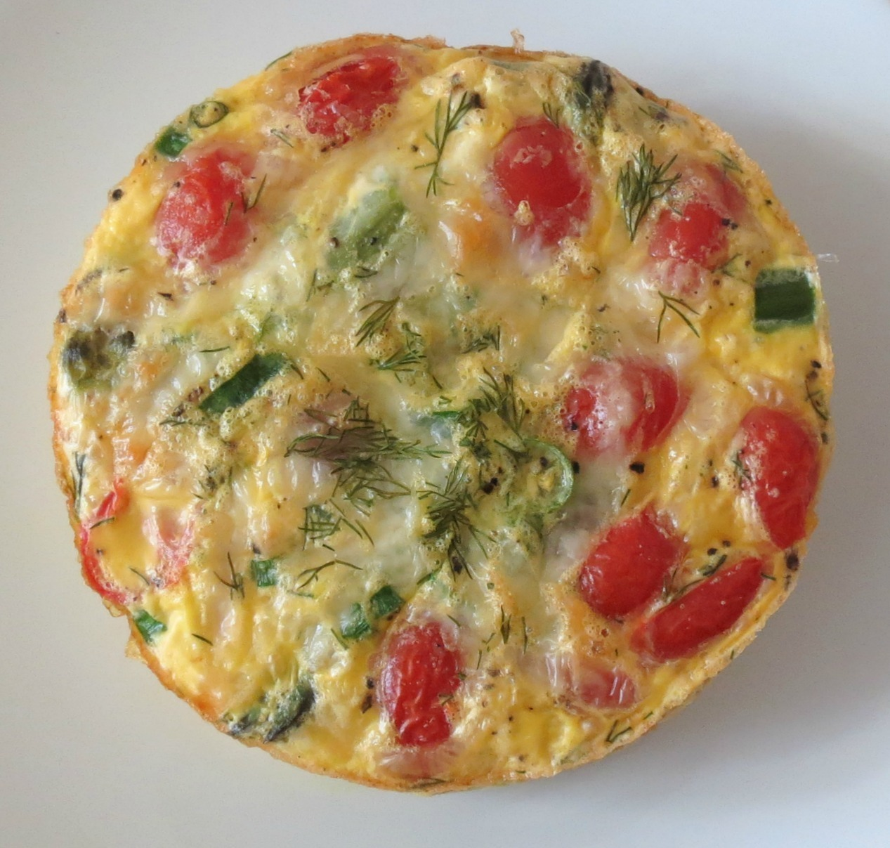 Asparagus,Tomato and Dill Egg Bake | Peanut Butter and Peppers