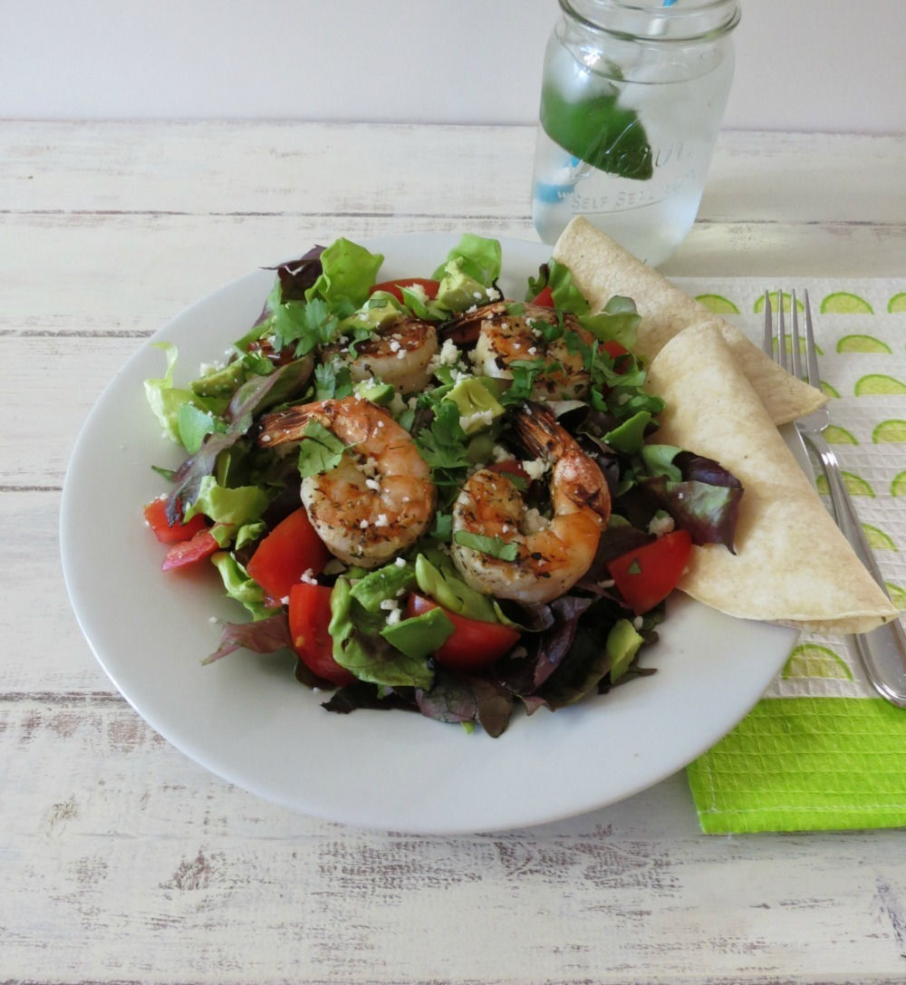 Garlic Lime Shrimp Salad | Peanut Butter and Peppers